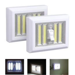 2019 führte küchenschrank 8W batteriebetriebene LED-Nachtlichter COB LED kabellose Lichtschalter unter Schrank Regal Schrank Nachtlicht Küche RV Boot günstig führte küchenschrank