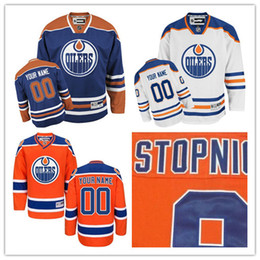 Wholesale Cheap Custom Hockey Jersey - 2017 Customized Mens Edmonton Oiler Custom Any Name Any Number Ice Hockey Jerseys Uniforms Cheap Authentic Best Stitched Logos size S-3XL