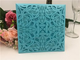 Wholesale Wedding Invite Cards Free - Creative Wedding Invitations Cards With Rustic Laser Cut Flowers Party Invites Custotion Card mized Printing Free Shipping