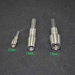 Uñas Titanium 10mm 14mm 18mm GR2 Domeless Nails para pipas de agua de fumar pipa de agua bongs plataformas petrolíferas herramienta de fumar desde fabricantes