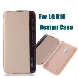 Wholesale Smart Mobile Wallet Leather Case - For LG K10 Side View Window Wallet Cases M2 F670 Slim Smart Flip PU Leather Cover Protector Mobile Phone Bags DHL SCA158