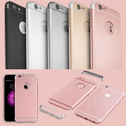 Wholesale Full Body Design - Newest Arc Design!! Luxury 3 in 1 Hard PC Full Body Removable Case For Iphone 6 4.7inch Rose Gold Armor Clear Slim