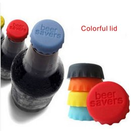 Wholesale Fresh Caps - Fashion Creative Gadget 6pcs set Silicone Bottle Caps , Condiment Fresh Keeping Cover Kitchen & Bar Necessary Free Shipping.