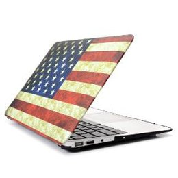 Wholesale Macbook Rubberized Cover - Plastic PC Protective Case Cover Shell for Macbook Air Pro Retina 12 13 15 inch Rubberized Cases Retail Box Water Decal Fashion Style