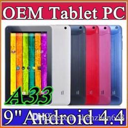 """Azioni di compressione online-2015 9 """"Quad Core Android 4.4 Tablet PC Azioni Dual Camera 512mb 8 GB Touch Screen capacitivo 1.2 GHZ WIFI 9"""" Tablet PC A-9PB"""