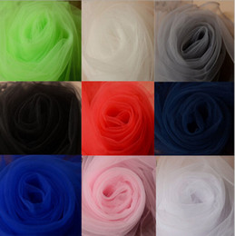 Wholesale Tull Wedding Dress Cheap - Wholesale Tulle 1.6M Width America Mesh Women Tull Dress Fabrics Cheap Sale Wedding Decoration