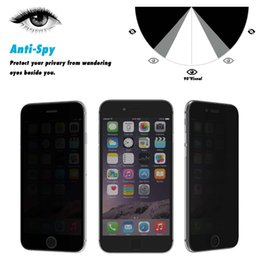 Wholesale Spy Mirrors - New Privacy secret black glass Anti Spy Tempered Glass ForApple iPhone 6 6s Plus 7 8 8pScreen Protector Glass Film On the For iPhone 5 5S SE