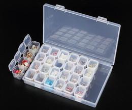 28 Yuvaları Kozmetik Nail Art Saklama Kutusu Glitter Taşlar Dekorasyon Boş Kutu Kavanoz Tencere Konteyner Doldurulabilir nereden mat kutu kırmızı tedarikçiler