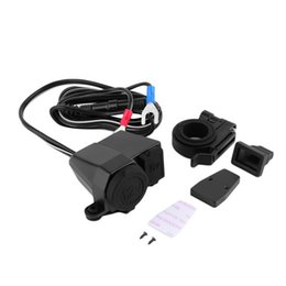 Wholesale Usb Cigarette Adaptor - Universal All in ONE 12v 2.1A Waterproof Motorbike Motorcycle 5V USB Power Port Cigarette Lighter Adaptor Integration Outlet Socket Charger