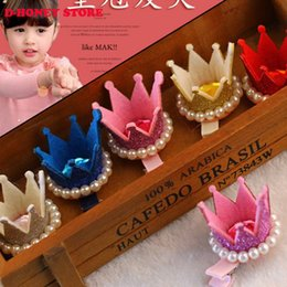 Wholesale Baby Plastic Hair Clip - Crown hairclips princess crown hair clips Piercing Little star Crown Hairpins baby hairpins girl Best Gift for Girls