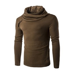 Wholesale Wool Shirts For Men - Autumn New Pullover for Men Sweater 2016 Fashion Turtleneck Design Mens Slim Sweaters Casual warm Stylish shirt Men Homme Sweatshirts