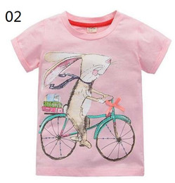 Wholesale Children S Summer Clothes Sale - OneToo 2-10 years baby Girl t-shirt Girls shirts children blouse big sale super quality 100% cotton kids summer clothes