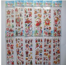 Wholesale Kids Toy Craft - Party Supplies Stars phone Santa Claus 3D PVC Puffy Anime Cartoon Stickers Kids Toys Cartoon Craft Classic Toys Children's toys Christmas