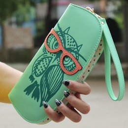 Wholesale Owl Pu Bag - Women Wallets Owl Valise Dollar Price Pochette Teenage Unique Purses for Teen Girls Children's Cute CarterasMujer Coin Purse
