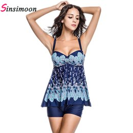 Wholesale Plus Size Bikini Skirt - Wholesale- 2017 Dress Swimsuit Skirt Bathing suit One piece bathing suit Floral Print Swimsuit Women Plus size Swimwear One-piece Monokini