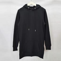Wholesale Shirts For Man Zip - Free shipping men's hip hop fleece sweatshirts with hoody side zip to hem design long sweat shirt men longline hoodies for men