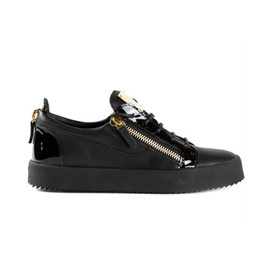 Wholesale Italian Leather Sneakers Men - Sizes 35-47 italian luxury brand new designer men shoes Genuine Leather women platform sneakers with box zapatos mujer scarpa chaussure