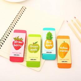 Wholesale Eraser Big - Wholesale-1 X novelty Fruit big size rubber eraser creative kawaii stationery school supplies papelaria gift for kids