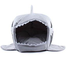 Wholesale Wholesale Dog Soft Houses - 2016 2 Size Pet Products Warm Soft Dog House Pet Sleeping Bag Shark Dog Kennel Cat Bed Cat House cama perro for Christmas