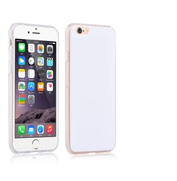 Wholesale Wholesale Iphone Blanks - White blank tpu DIY case for Sublimation heat press colorful drawing printing case TPU slim thin back cover for iPhone SE 6 6s plus