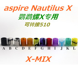 Wholesale Plastic Mouth Clearomizer - nautilus X tip Plastic Drip Tips wholeale 510 mouth pieces for Vivi Nova 510 Electronic Cigarette Clearomizer atomizer with fast delivery