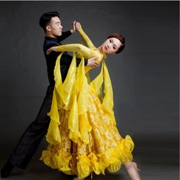 Wholesale Tango Dresses Purple - new big swing sequins standard ballroom dance dress customize professional long sleeve tango waltz dance competition costumes FN049