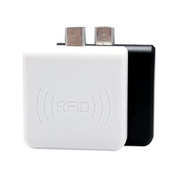 Wholesale Smart Reader Android - Micro USB port 125Khz contactless Android rfid card Mini-reader can connect with computer by a OTG cable