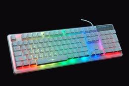 Wholesale Luminous Backlit Keyboard - Three groups of seven color Backlight Suspension mechanical feel backlit, KCrystal luminous keyboard USB Wired Powered Full N-Key