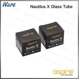 2019 tubo de vidrio de nautilo 100% original Aspire Nautilus X Reemplazo Pyrex Glass Tube Clear Frosted Disponible Nautilus X 4ML Kit Adaptador Para Nautilus X Tanque tubo de vidrio de nautilo baratos
