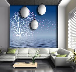 Wholesale Suitable Living Room Paintings - Simple painting Dandelion nonwoven fabric is suitable for the living room TV background sand background Hotel free shipping