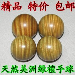 Wholesale Fitness Ball Handball - Wholesale-Green Sandalwood massage health ball player to a handball longevity elderly gift