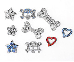 Wholesale Jewelry Collars For Dogs - Big Sale! Fashionable Rhinestones 20mm Slide Charm DIY for Dog Pet Collar Pet Jewelry Pet Fashion Wholesale