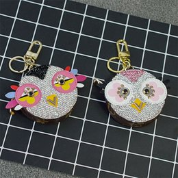 Wholesale Purse Bags Accessories - Lovebirds Diamonds Coin Purse Bags Accessories Rings Round Pouch Ornaments Spinner Pendants for Women Bags Mini Gifts Chain GJ01