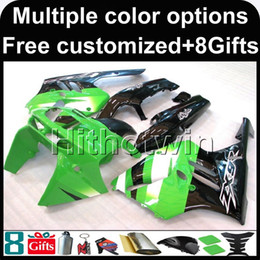 Wholesale 94 Zx9r Fairing Kit - 23colors+8Gifts green kit motorcycle cowl for Kawasaki ZX9R 1994-1997 ZX9R 94 95 96 97 ABS Plastic Fairing
