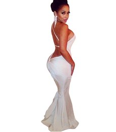Wholesale Tights Cut Outs - sexy women female Backless Package hip bandage dress low-cut deep v-neck Tight nightclub party dress Summer Bodycon vestidos 5405