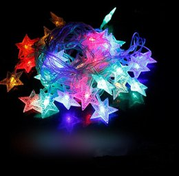 blau geführtes helles licht Rabatt 10 Mt Wasserdichte 100 sterne LED urlaub lichterketten für Weihnachten Festival Party Fairy Bunte Weihnachten LED Lichterketten JF-86