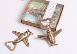 "Wholesale wholesale giveaways - wedding favor gift giveaways for guest fashion beer bottle opener""Let the Adventure Begin"" Airplane Bottle Opener party souvenir"