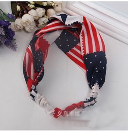 Wholesale Pearl Jewelry Manufacturers - European and American trade jewelry hair band hair band children hair accessories chiffon American Flag beach hair accessories manufacturers