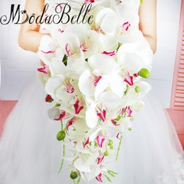Wholesale Western Wedding Bouquets - modabelle Waterfall Pastoral Wedding Brides Bouquet Western Artificial Phalaenopsis Wedding Flowers Bridesmaid Bridal Bouquets New Arrival