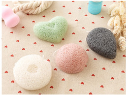 Wholesale Sponges For Facials - Konjac Sponge Puff Herbal Facial Sponges Pure Natural Konjac Vegetable Fiber Making Cleansing Tools For Face And Body 200pcs WA0416