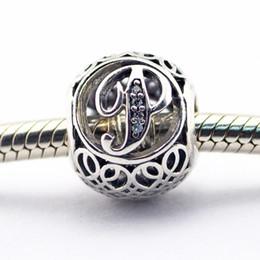 Wholesale Letter P Bracelet Charm - Vintage P Clear CZ 16 100% 925 Sterling Silver Beads Fit Pandora Charms Bracelet Authentic DIY Fashion Jewelry