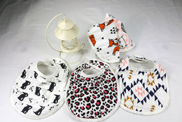 Wholesale Muslin Cloth Baby - 8styles miracle Baby Bibs 2016 ins Cartoon Animal Cotton bibs Muslin Anais baby soft Burp cloths 3 layers Feeding bibs
