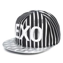 Wholesale Exo Caps - EXO Silver Plating Hip Hop Hats for Men Snapback Baseball Polo Cap Z-1506