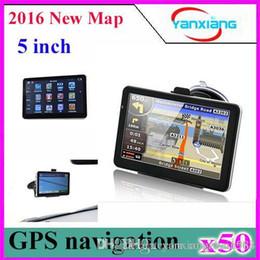 Wholesale Canada Autos - 50pcs 4G Memory 5 inch GPS navigator WIN CE 6.0 car auto gps navigation IGO ZY-DH-02