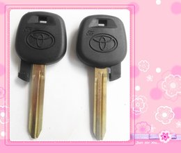 Wholesale Car Key Case Shell - KL22-1 FREE SHIPPING TOYOTA transponder key shell,, car key case with TOY43 key blade high quality