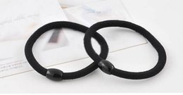 Wholesale Baby Hair Rubber Ponytail - 10PCS Top Selling Head Bands Rubber Band Baby Hairband Ties Scrunchie Ponytail Holder Black Ring Women Braid Hair Accessories