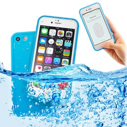 Wholesale Green Plastic Screen - Waterproof case for iPhone X 8 7 Plus 6S soft TPU 360 Degree touch screen case For iPhone 5 5S SE Swimming Cases
