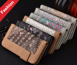 Wholesale Linen Iphone Case - For Iphone 6 7 I7 Iphone7 Plus 6S Samsung Galaxy S7 EDGE Woven Wallet Leather Cases Linen fabric TPU Card Slot Money Photo Stand Pouch Cover
