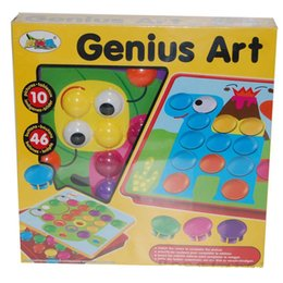 Wholesale Picture Puzzles - 3D Puzzles Toys for Children Composite Picture Puzzle Creative Mosaic Mushroom Nail Kit Educational Genius Button Art Baby Toy