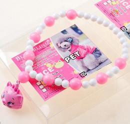 Wholesale Doraemon Bell - Cute Marie Cat Frog Doraemon Pet Pearl Collar Cartoon Dog Necklace With Bell Wholesale Pet Supplier 3 Size Mix Order Min Order 10PCS